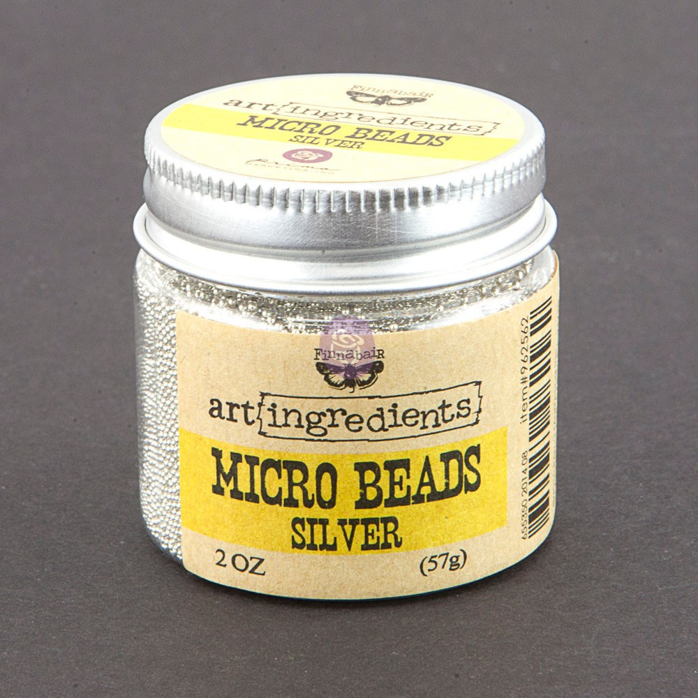Art Ingredients-Micro Beads: Silver 57g