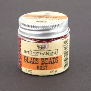 Art Ingredients-Glass Beads: Ruby 56g