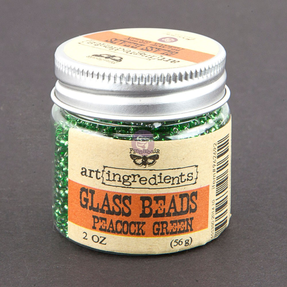 Art Ingredients-Glass Beads: Peacock Green 56g