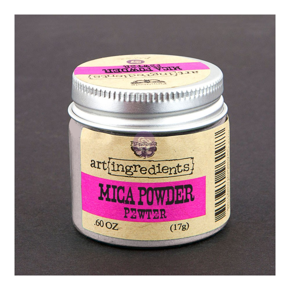 Art Ingredients-Mica Powder: Pewter 17g