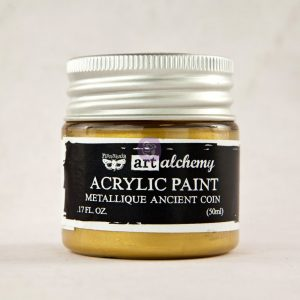 Art Alchemy-Acrylic Paint-Metallique Antique Gold 1.7oz