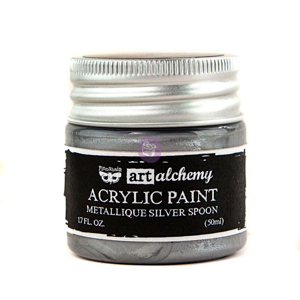 Art Alchemy-Acrylic Paint-Metallique Silver 1.7oz