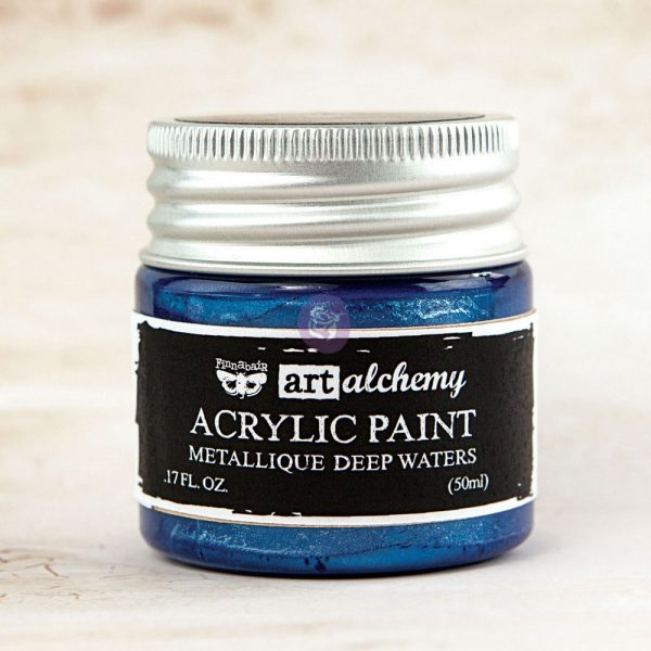 Art Alchemy-Acrylic Paint-Metallique Blue 1.7oz