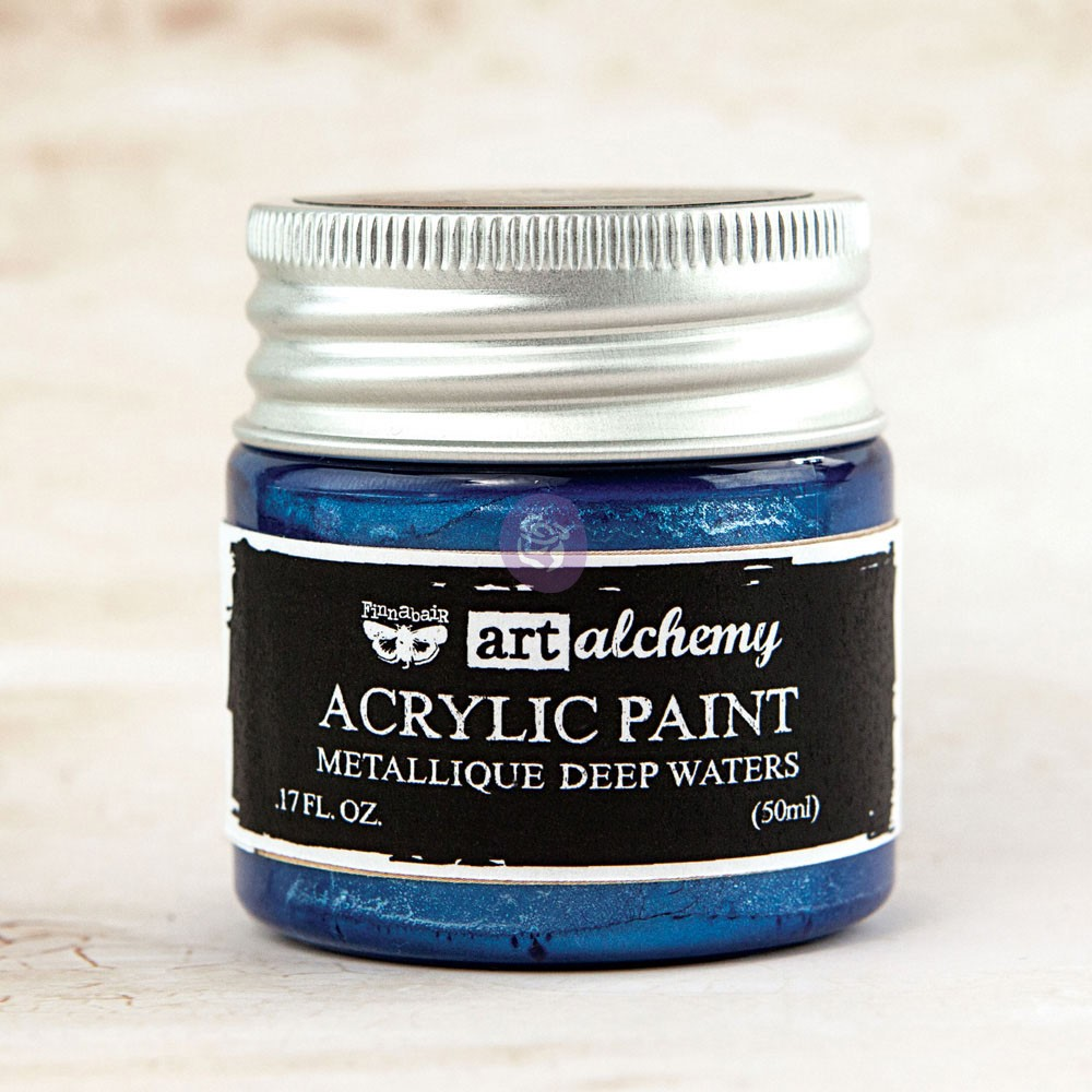 Art Alchemy-Acrylic Paint-Metallique Blue 1.7oz
