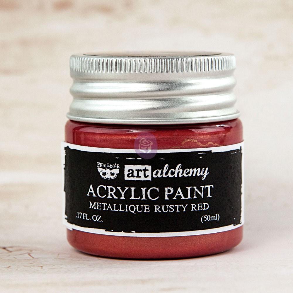Art Alchemy-Acrylic Paint-Metallique Red Copper 1.7oz
