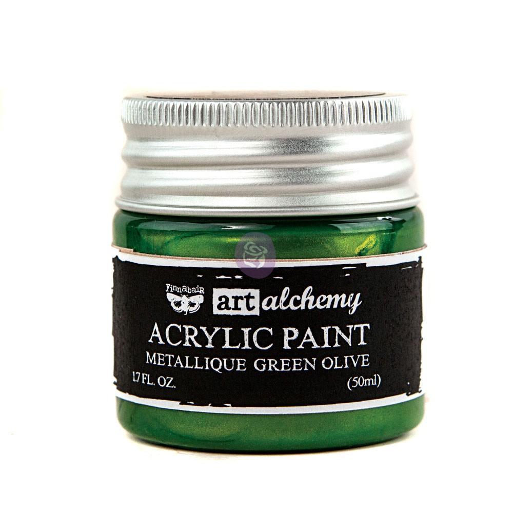 Art Alchemy-Acrylic Paint-Metallique Green 1.7oz