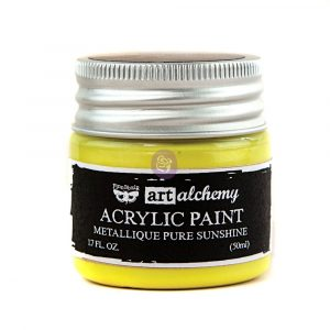 Art Alchemy-Acrylic Paint-Metallique Yellow 1.7oz