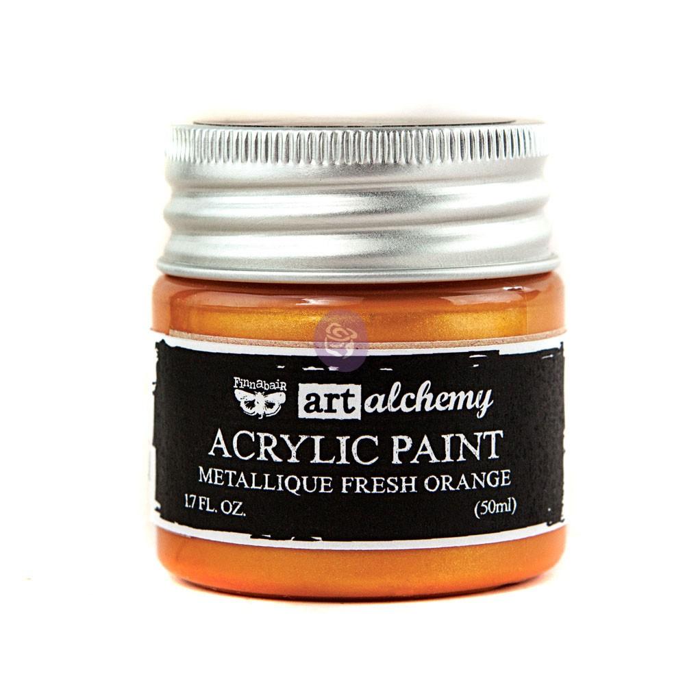 Art Alchemy-Acrylic Paint-Metallique Orange 1.7oz