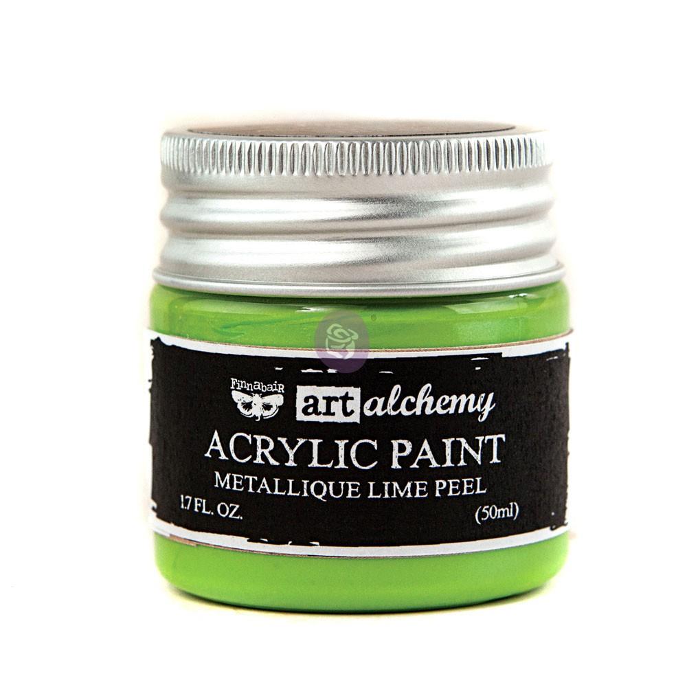 Art Alchemy-Acrylic Paint-Metallique Light Green 1.7oz