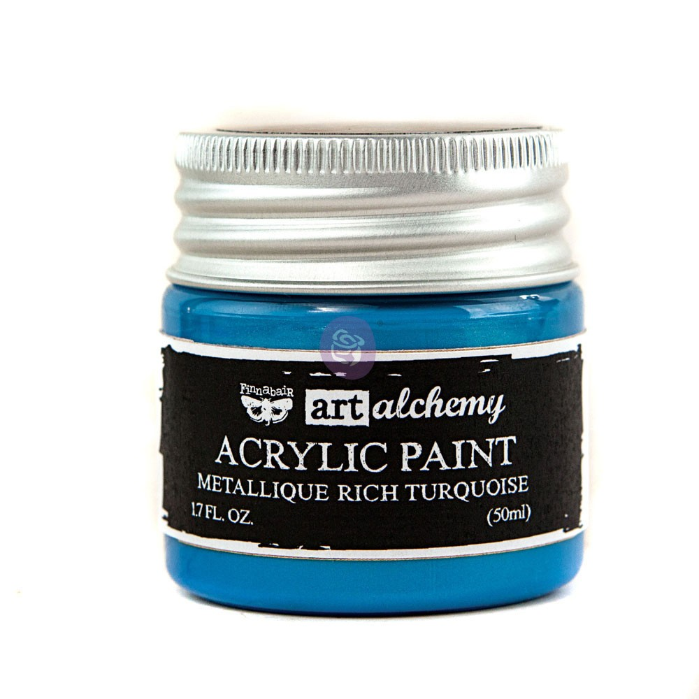 Art Alchemy-Acrylic Paint-Metallique Light Blue 1.7oz