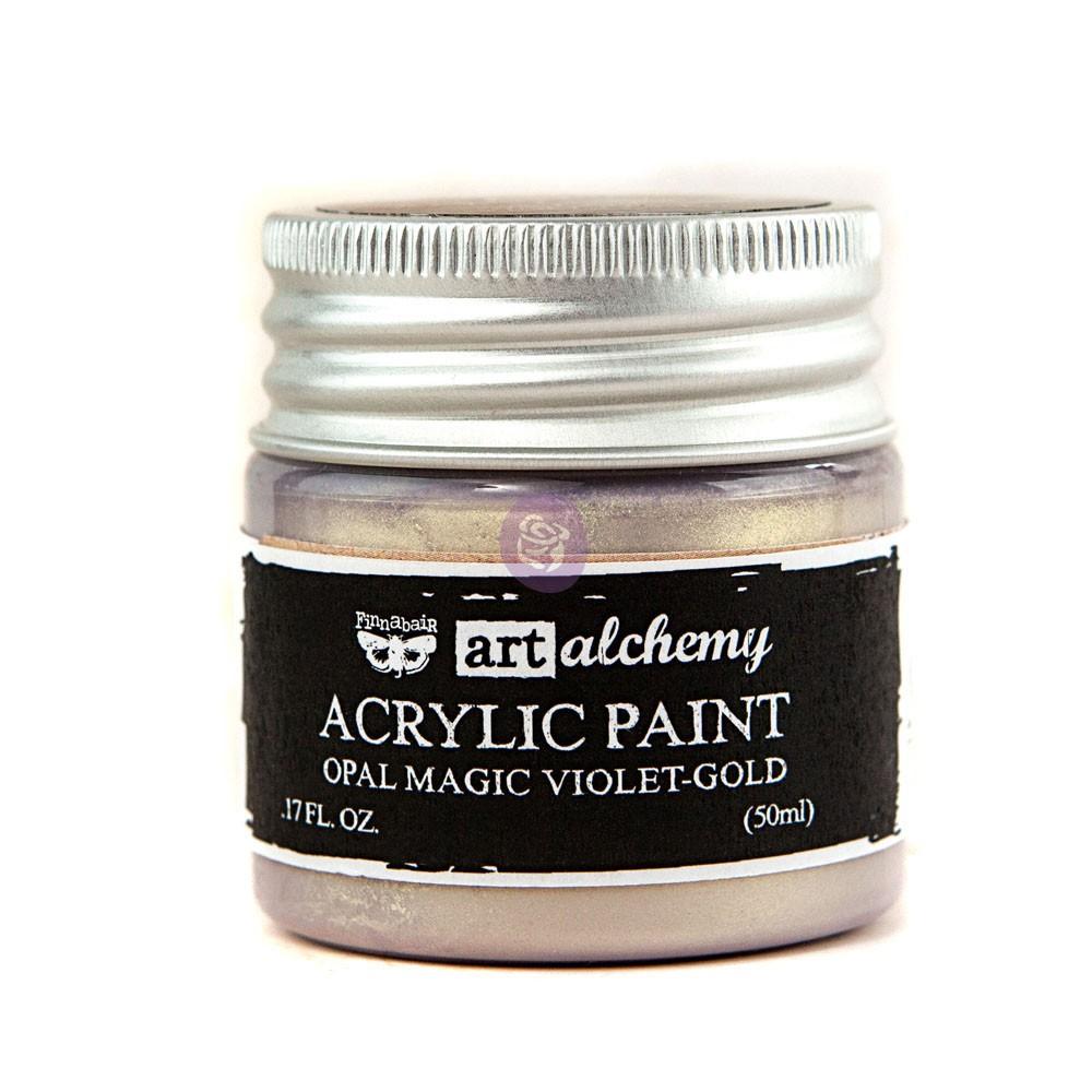 Art Alchemy: Acrylic Paint-Opal Magic Violet-Gold 1.7oz