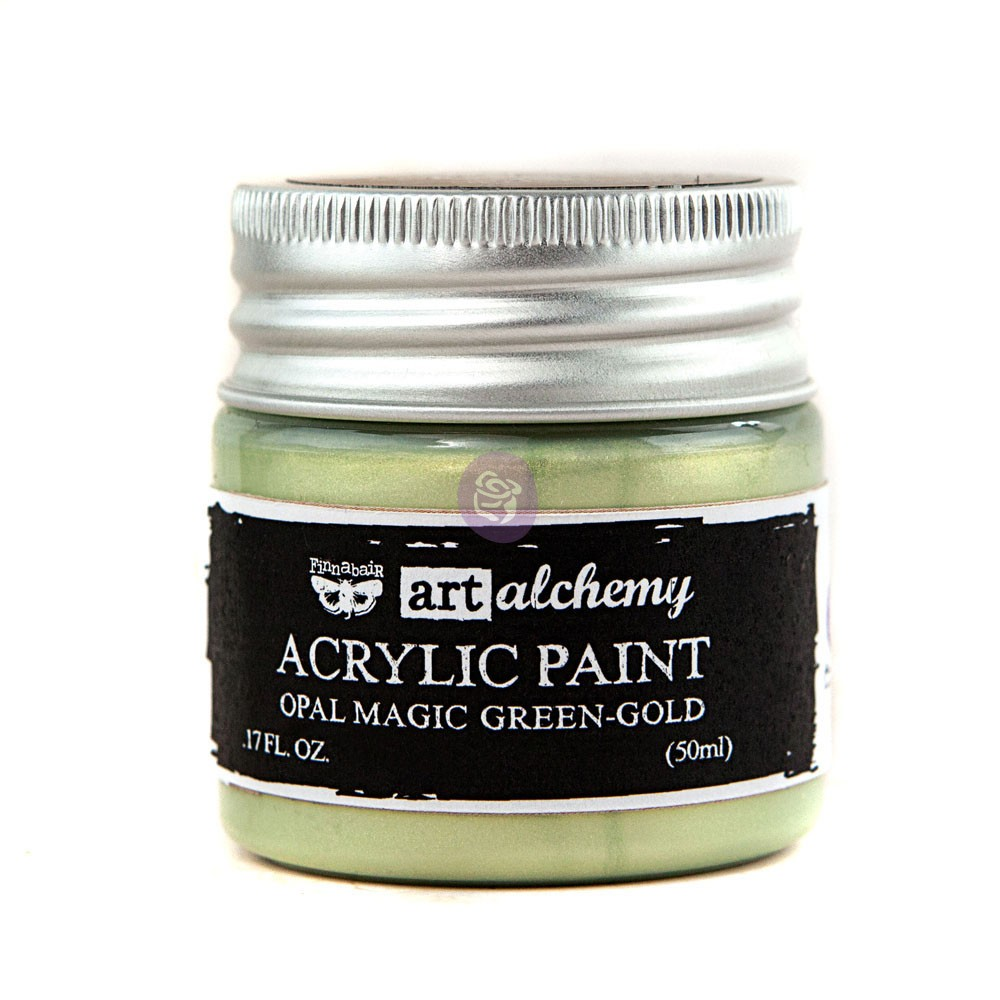 Art Alchemy: Acrylic Paint-Opal Magic Green-Gold 1.7oz