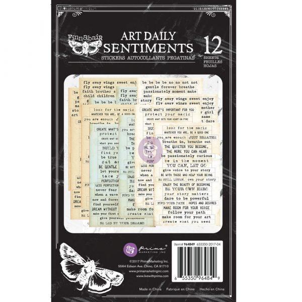 Art Daily Planner Sticker Pad - Sentiments