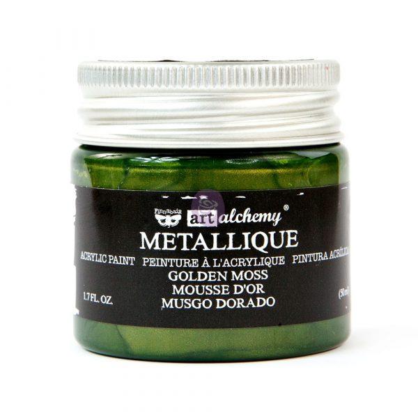 Art Alchemy Metallique Acrylic Paint - Golden Moss