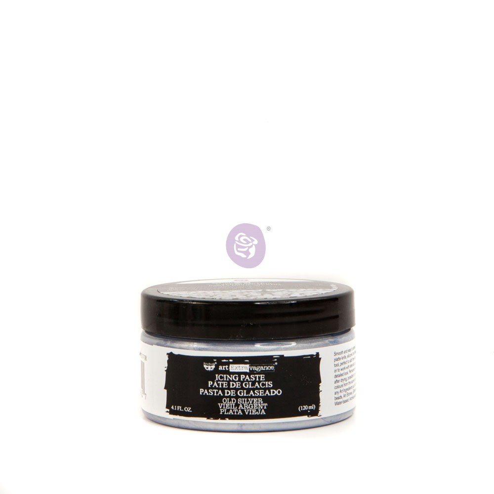 Art Extravagance Icing Paste-Old Silver