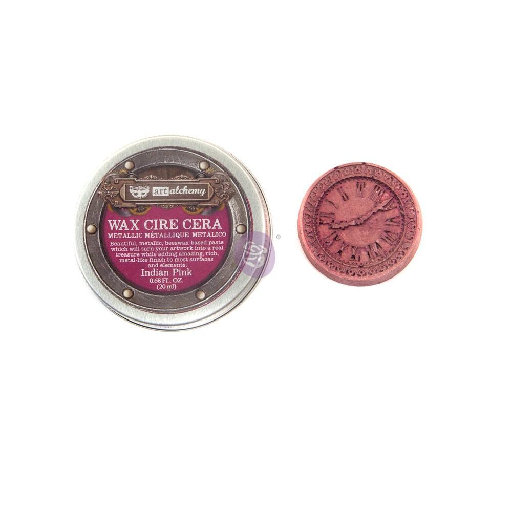 Finnabair Metallique Wax - Indian Pink