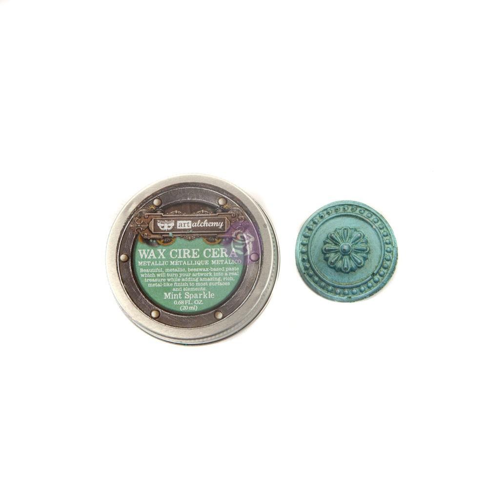 Finnabair Metallique Wax - Mint Sparkle