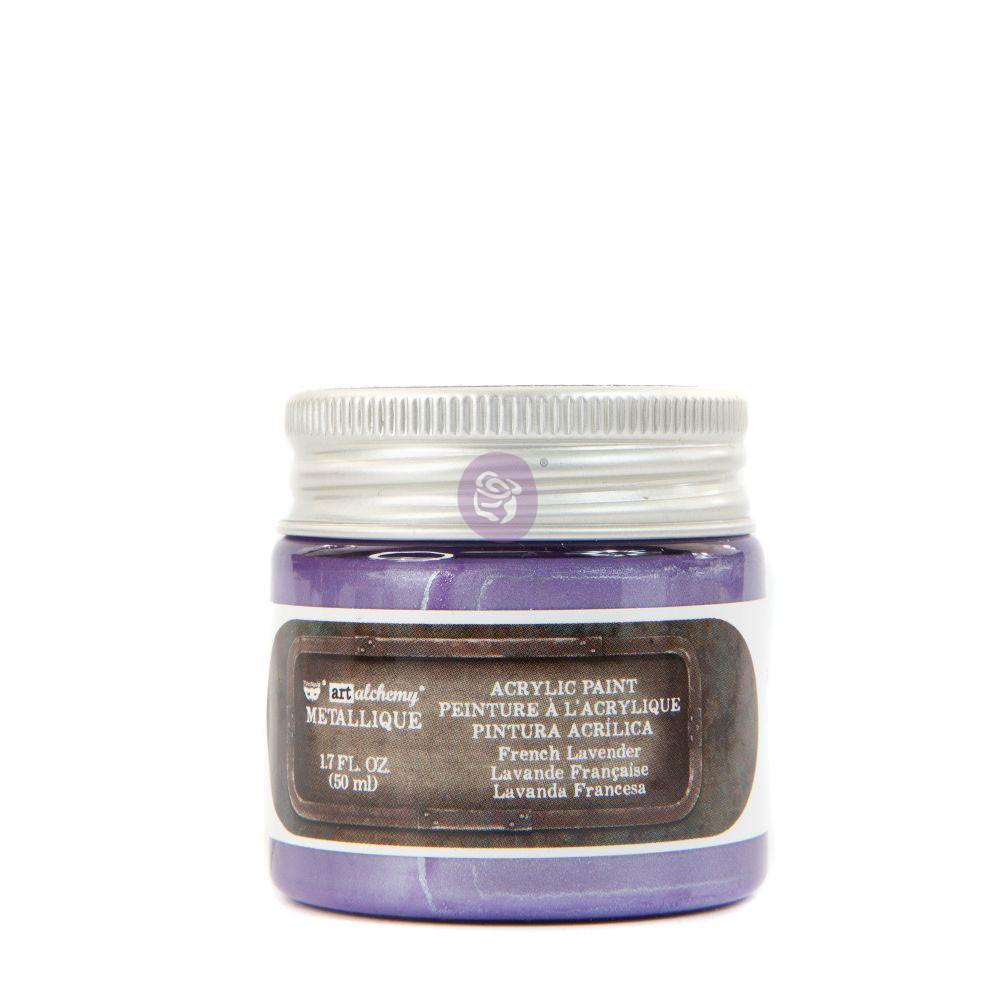 Finnabair Metallique Acrylic Paint - French Lavender