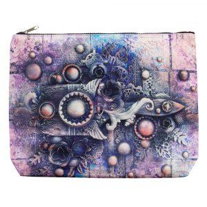 Art Basics - Big Art Pouch - Art Celebration in Purple - 13x10x1.5in