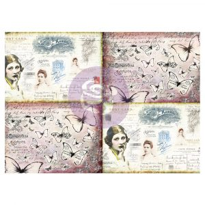 Art Daily - Decorative Paper Journaling Minis  - Ladies' World - 6 sheets, 70cm x 50cm