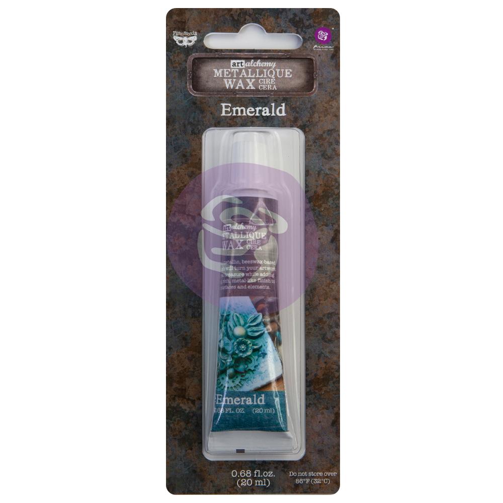 Art Alchemy  - Metallique Wax - Emerald - 1 tube, 20ml