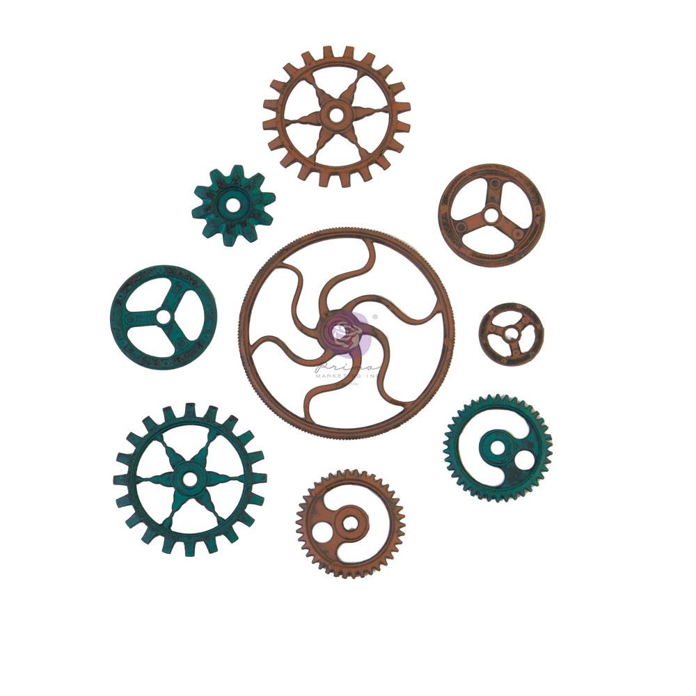 Mechanicals - Grungy Gears  - 9 pcs