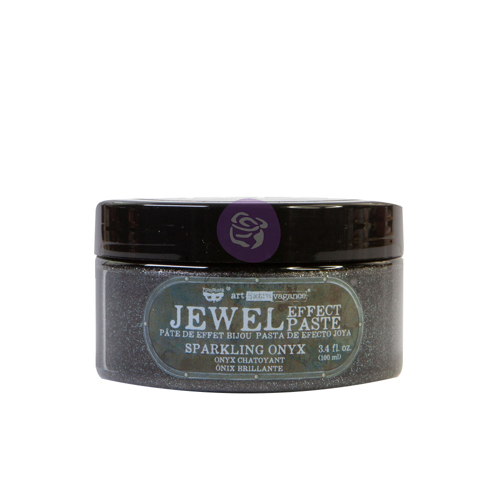 Art Extravagance - Jewel Texture Paste - Sparkling Onyx - 1 jar, 100ml (3.4 fl oz)