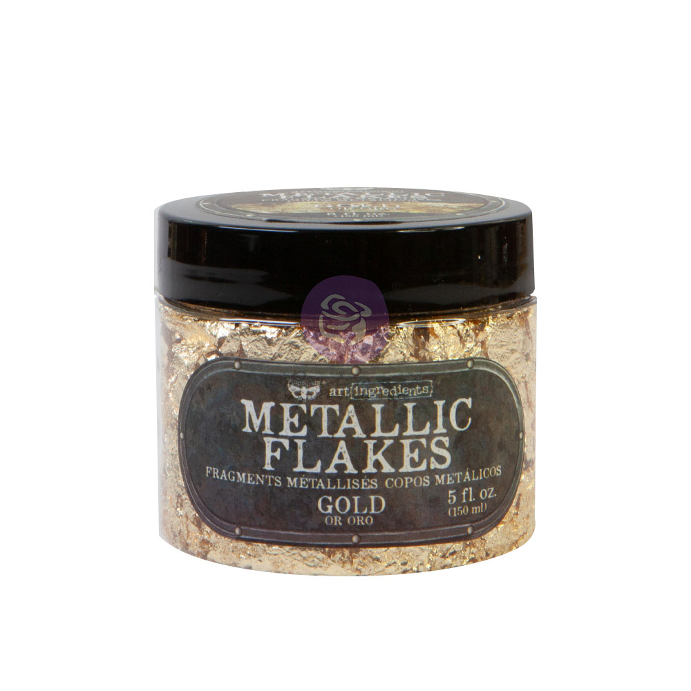Art Ingredients - Metal Flakes - Gold - 1 jar, total weight 30g including container