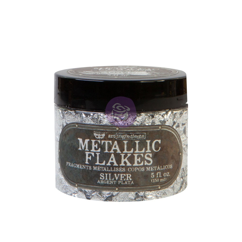 Art Ingredients - Metal Flakes - Silver - 1 jar, total weight 30g including container
