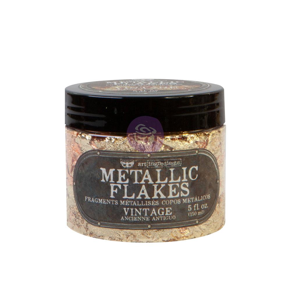 Art Ingredients - Metal Flakes - Vintage - 1 jar, total weight 30g including container