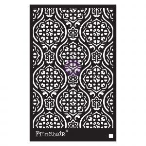 """Finnabair Stencil - Victorian Tiles - 1 piece, 6""""x9"""""""