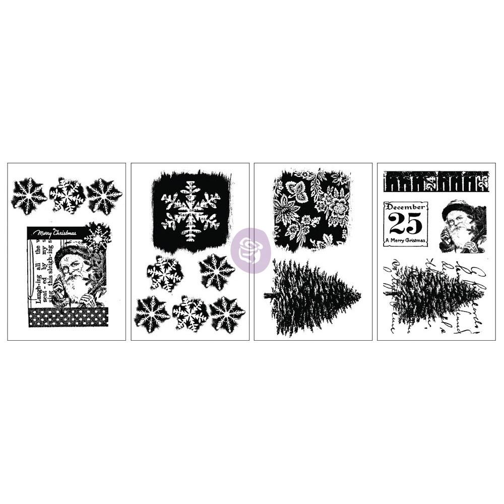 Adhesive Rub-Ons - Snow & Santa