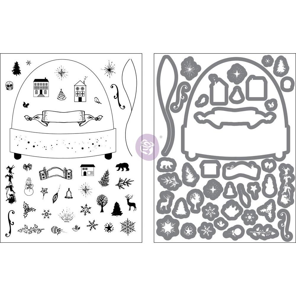 Stamp & Dies - Sweet Peppermint Snowglobe