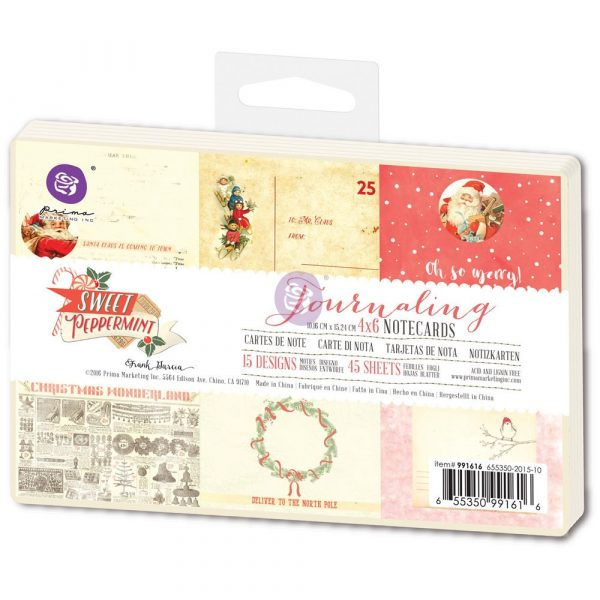 4x6 Journaling Notecards - Sweet Peppermint