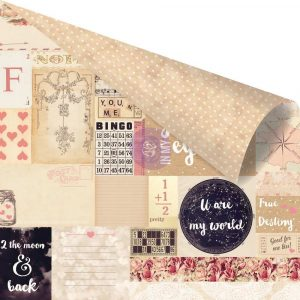 12x12 Love Clippings - 2 the Moon & Back