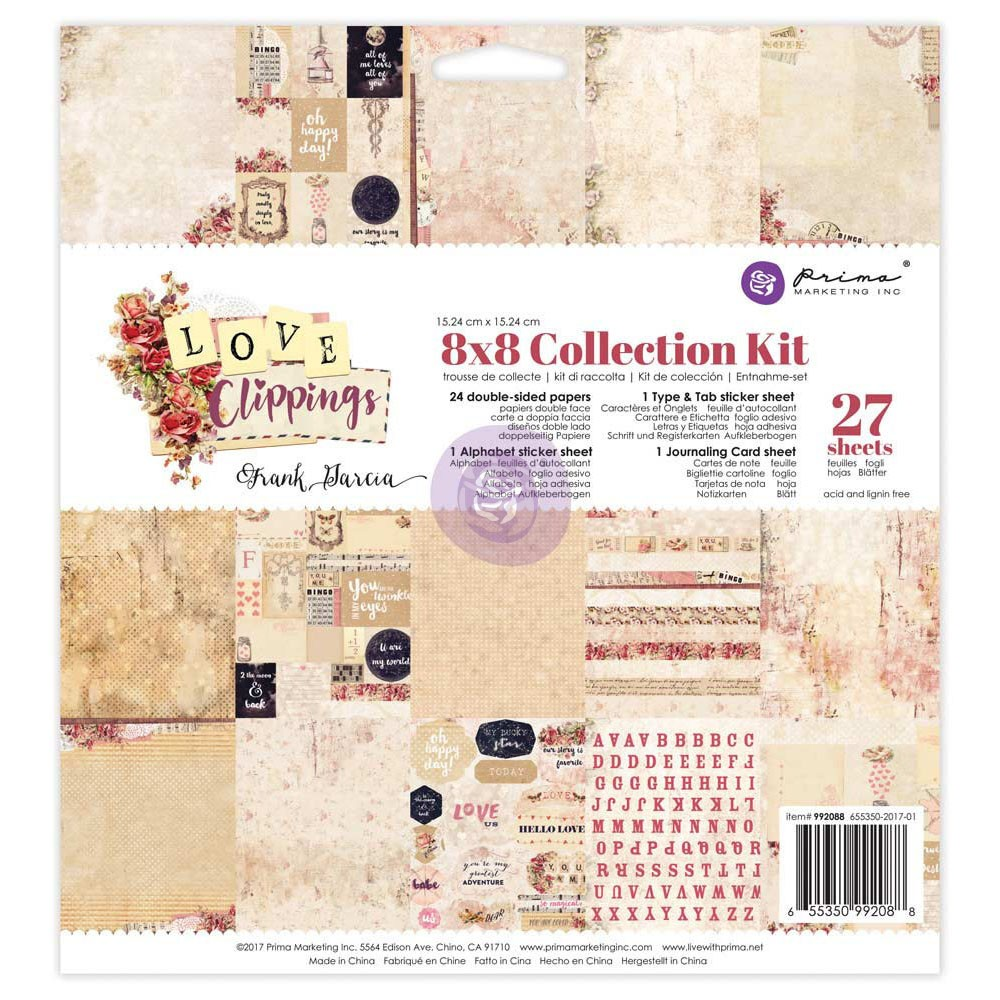 8x8 Collection Kit - Love Clippings