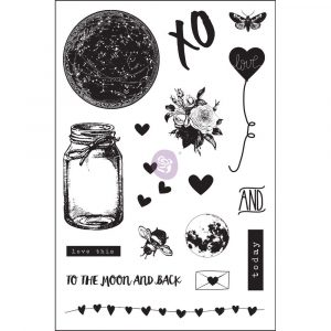 4x6 Cling Stamp - Love Clippings