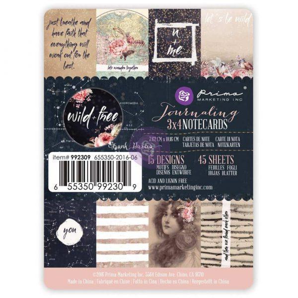 3x4 journaling cards - Wild & Free