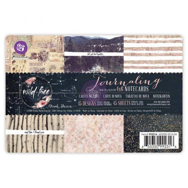 4x6 Journaling Notecards-Wild & Free