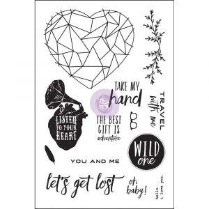 4x6 Cling Stamp - Wild & Free