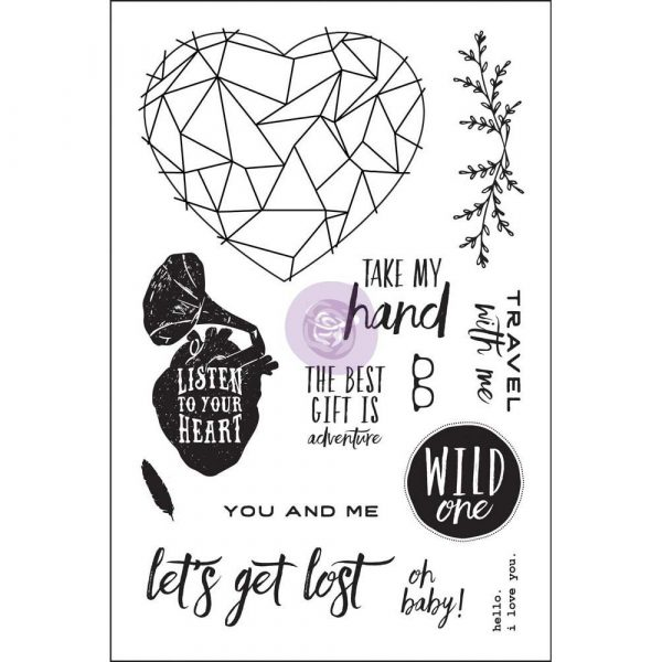 4x6 Cling Stamp - Wild & Free