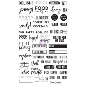 "FG Planner Accessories - Clear Stamps ""Food & Travel"""