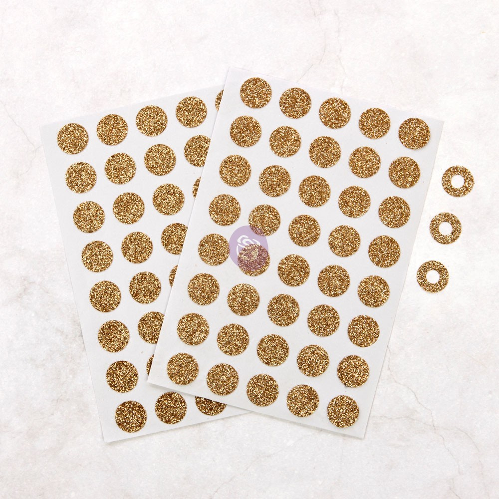 FG Planner Adornments - Champagne Hole Reinforcers