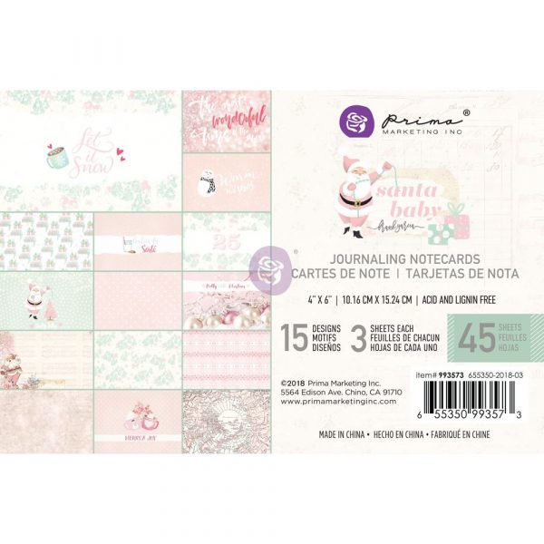 Santa Baby 4x6 Journaling Cards