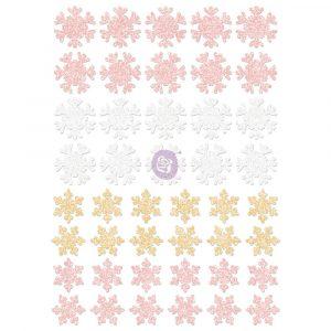 Santa Baby Glitter Stickers - Snowflakes