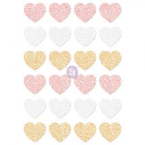 Santa Baby Glitter Stickers - Hearts