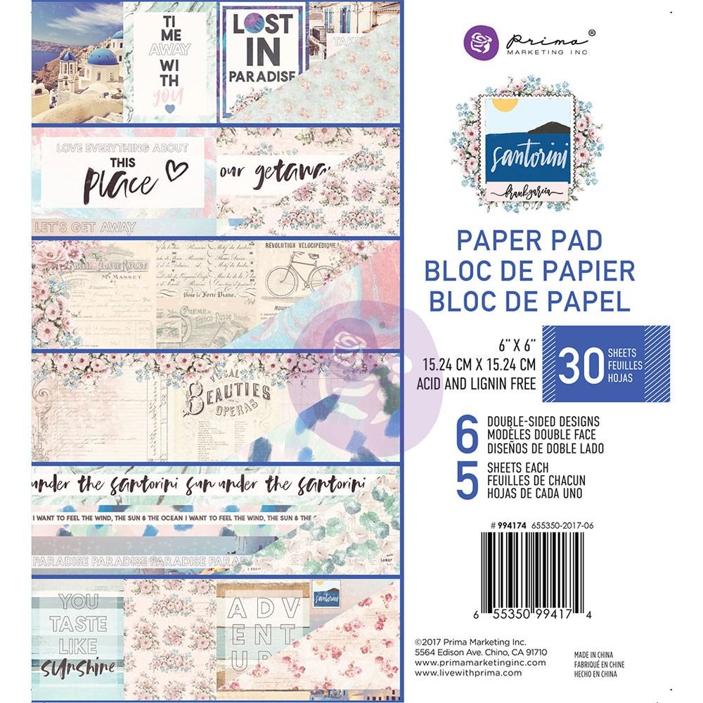 Santorini - 6x6 Paper Pad