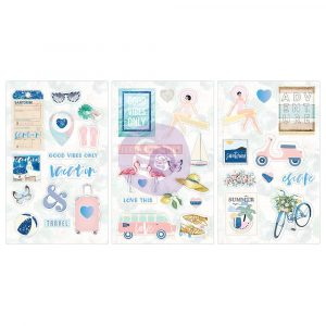Santorini - Chipboard Stickers