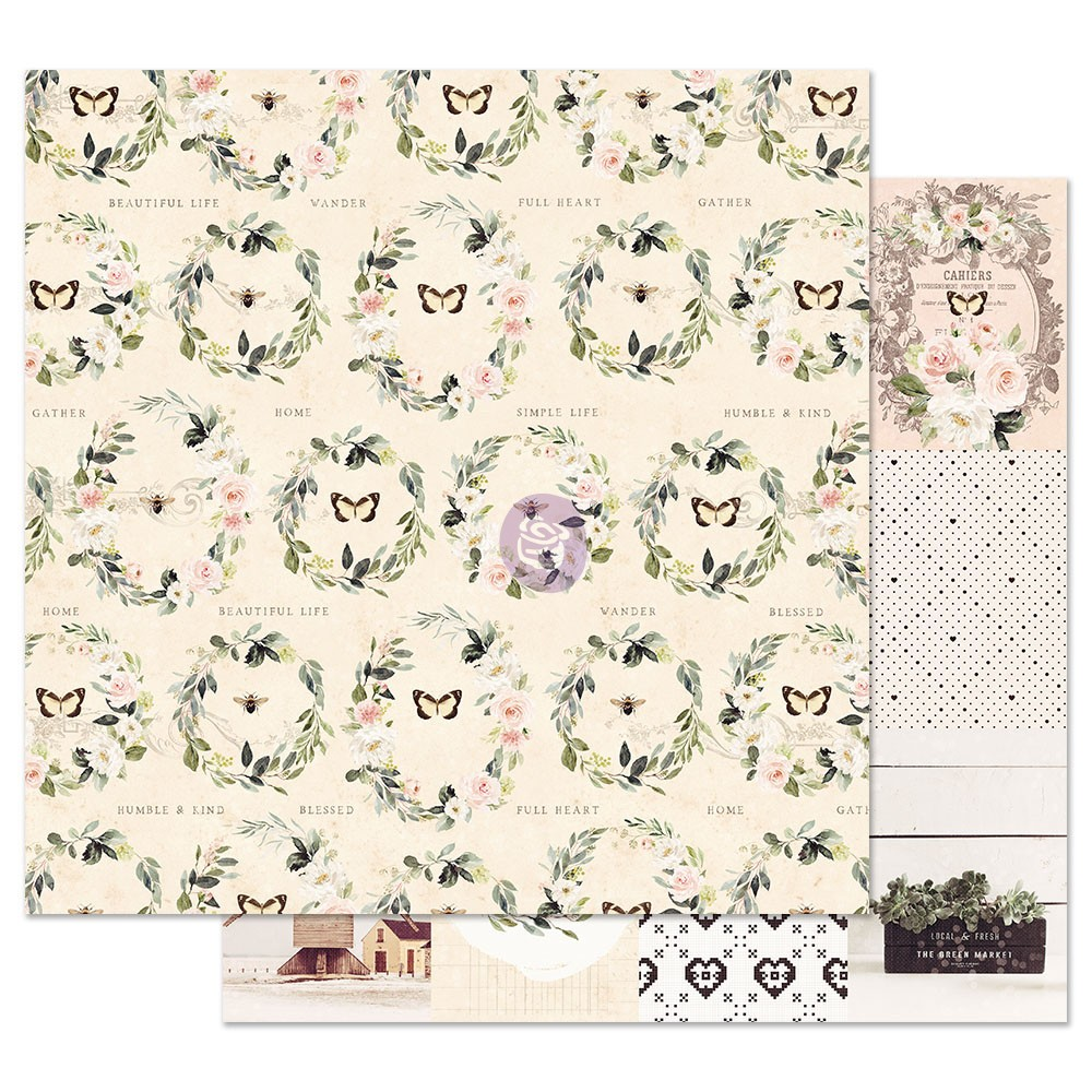 Spring Farmhouse 12x12 Sheet - Full Heart