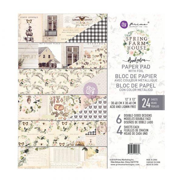Spring Farmhouse 12x12 Paper Pad